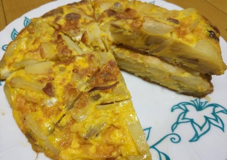 Resep Spanish Omelette/ Telur dadar spanyol Yang Populer Enak