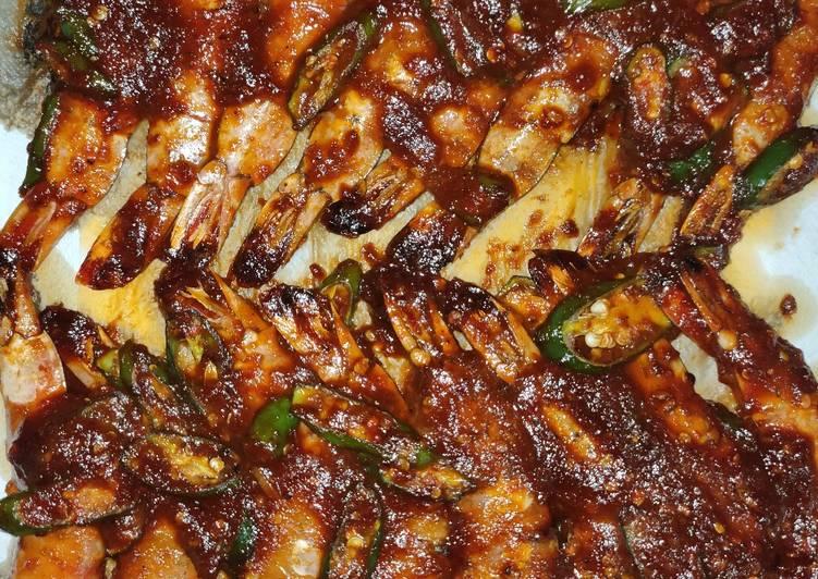Resep Grilled Tiger Prawn – [Black Pepper & BBQ] Sauce (Oven) yang Lezat
