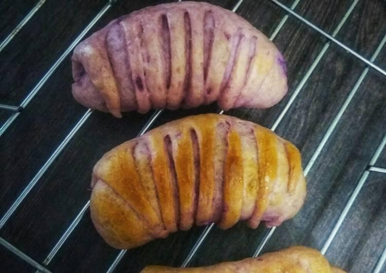 Roti Ubi Ungu Eggless