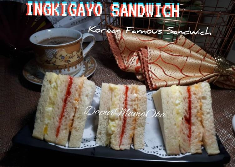 Resep Inkigayo sandwich(Korean Famous Sandwich) Paling Gampang
