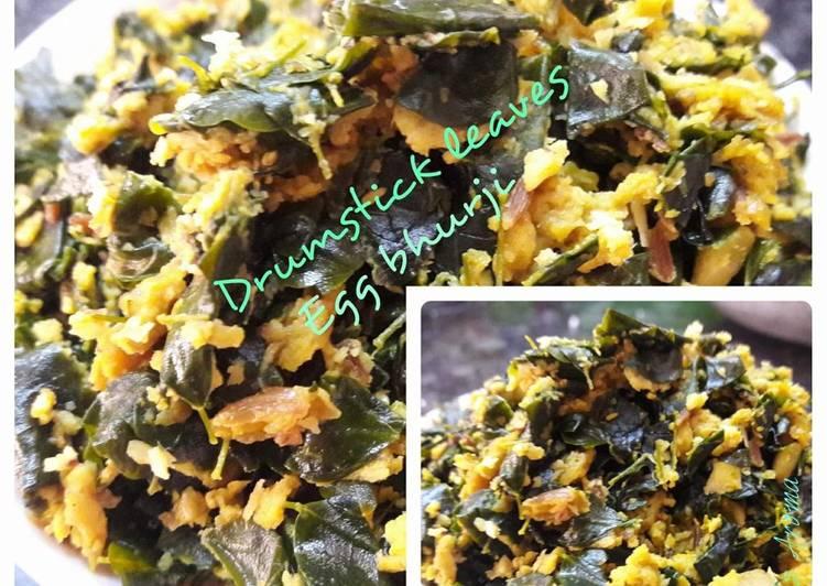 Drumstick leaves egg bhurji