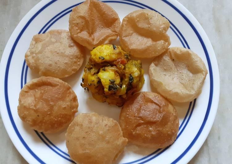 Easiest Way to Make Super Quick Homemade Kasoori Methi Aloo With Puri