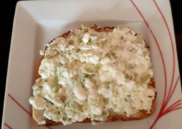 My Avocado & Cottage Cheese on Toast. 😊