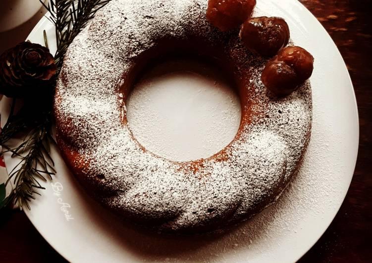Recette Savoureux ☆Gâteau Mousseux à la Crème de Marron Glacés☆