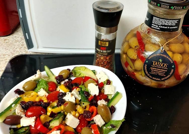 Recipe of My All Sort Greek and Surprise Salad Award-winning
