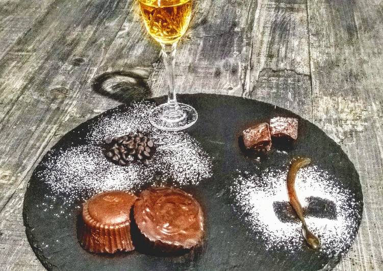 Cioccolatini cioccolato fondente, Nutella e rhum