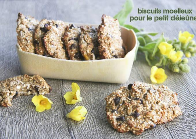 Biscuits moelleux au quinoa et à la banane plantain
