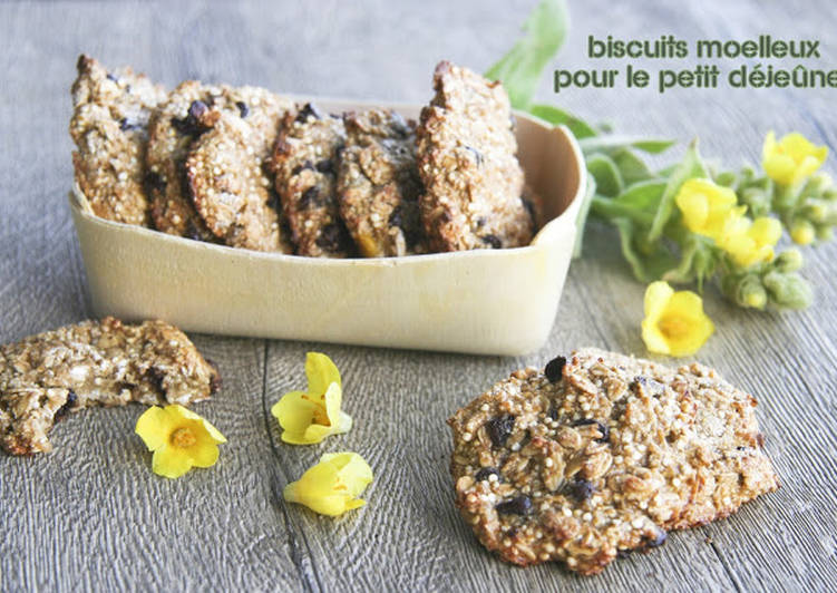 Recette Des Biscuits moelleux au quinoa et à la banane plantain