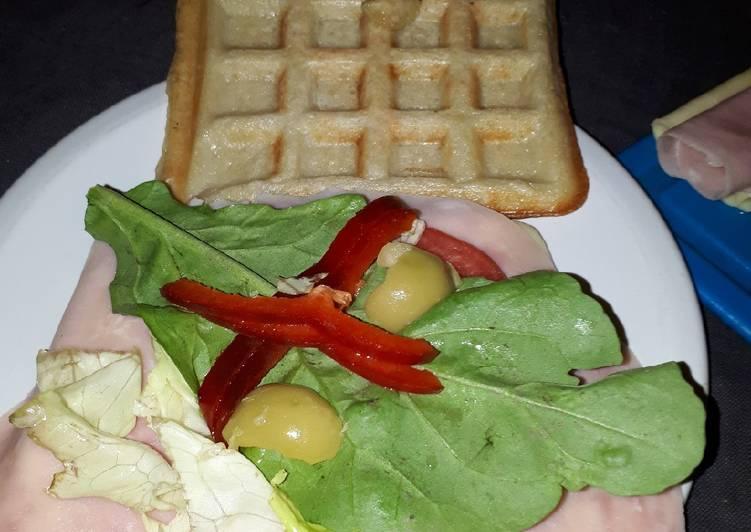 Waffles salados