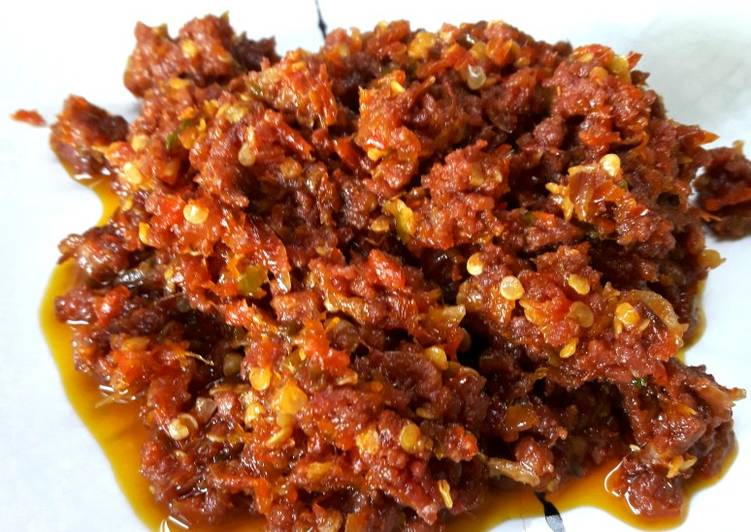 Beef Corned masak Rawit