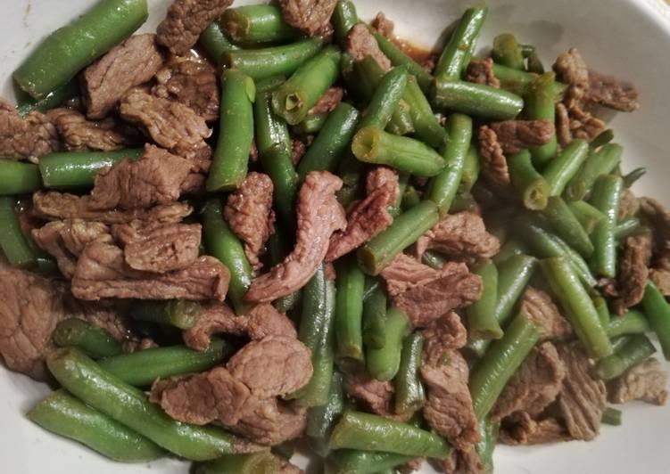 Tumis buncis daging ala Thailand