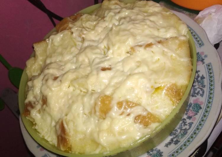 Pudding roti keju kukus🤤