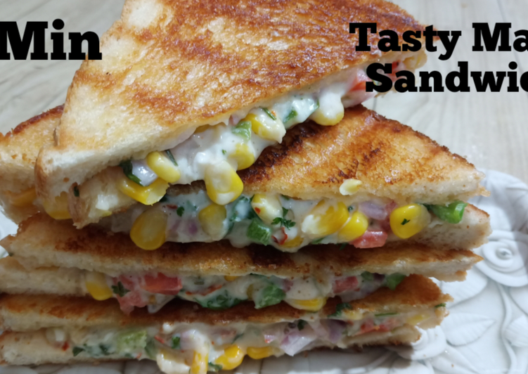 5 Min. Recipe || Grilled Cheese Corn Sandwich ||