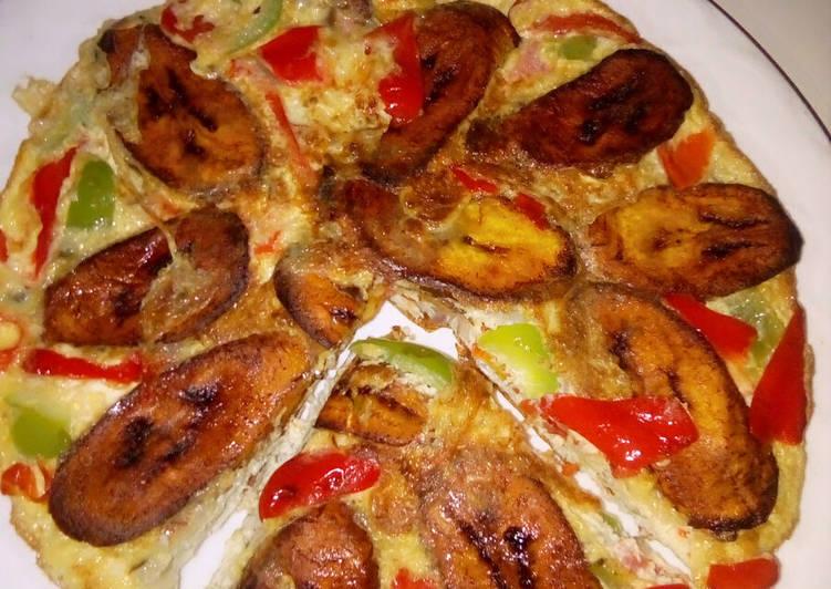 Plantain/egg frittata