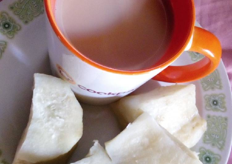 Sweet potatoes and tea