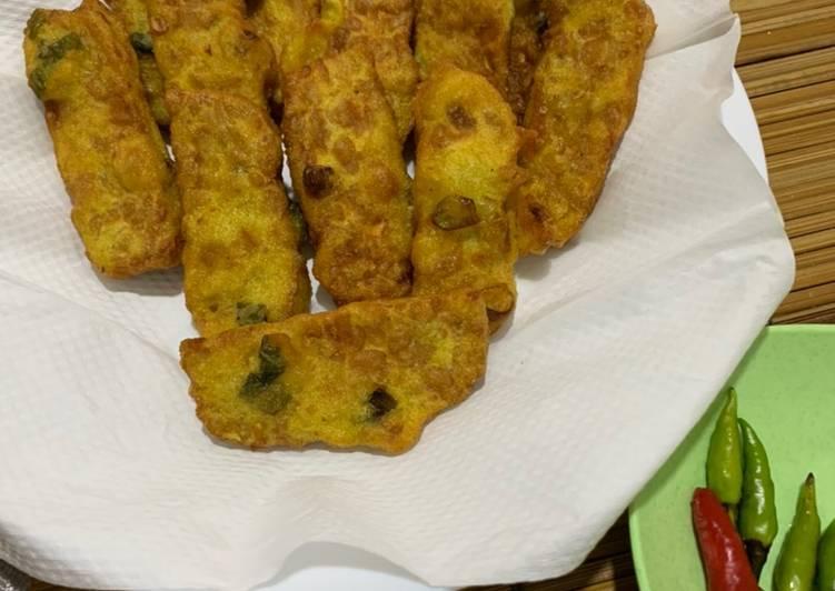 Tempe tepung goreng simple (mendoan kw)
