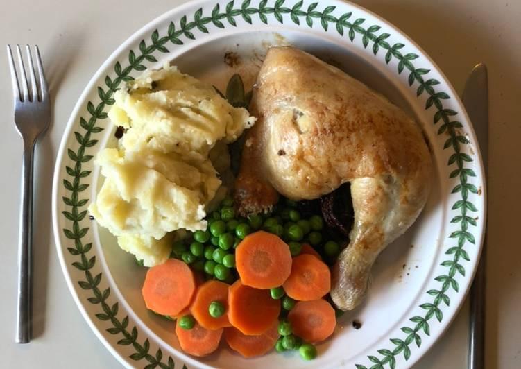 Chicken Leg with Caper Mash