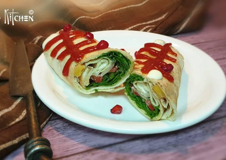 Khubz jarjeer salad rolls