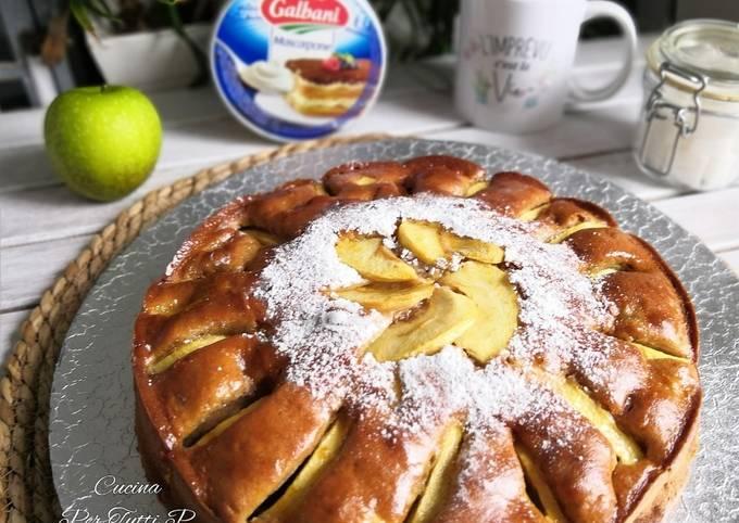 Moelleux pommes 🍏 canelle et Mascarpone