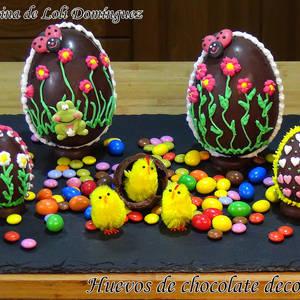 Huevos de chocolate decorados (Huevos de Pascua)