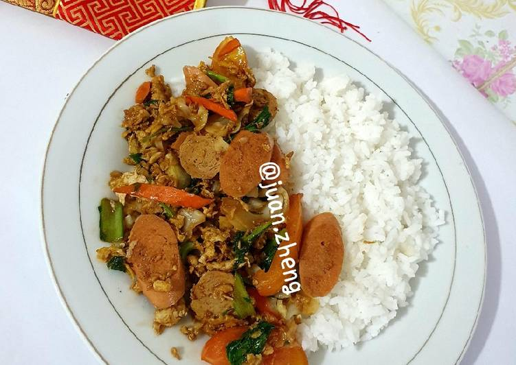 Nasi Gila Vegetarian