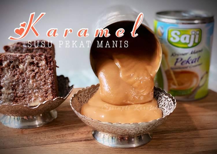 Topping Karamel Susu Pekat Manis (Topping kek, biskut, roti, kuih, dessert) - velavinkabakery.com