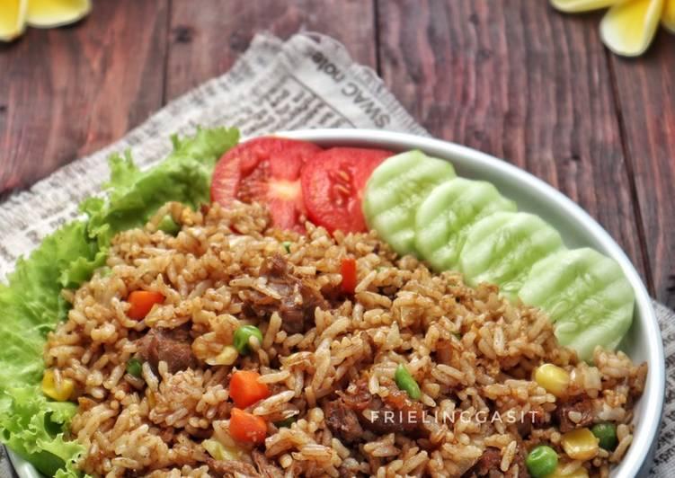 Nasi Goreng Teriyaki, saus teriyaki bisa dibuat homemade