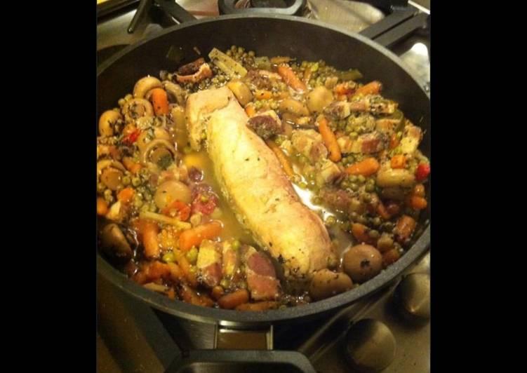 Comment Servir Filet mignon aux lardons et minis légumes