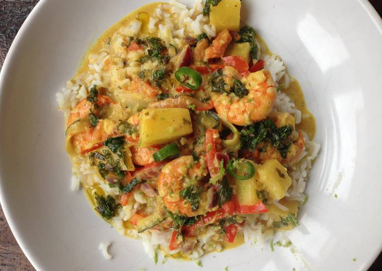 Shrimps coconut curry Deciding on Healthy Fast Food