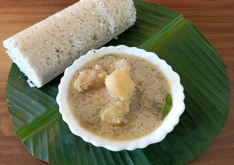 Recipe: Perfect Wheat flour puttu with potato stew