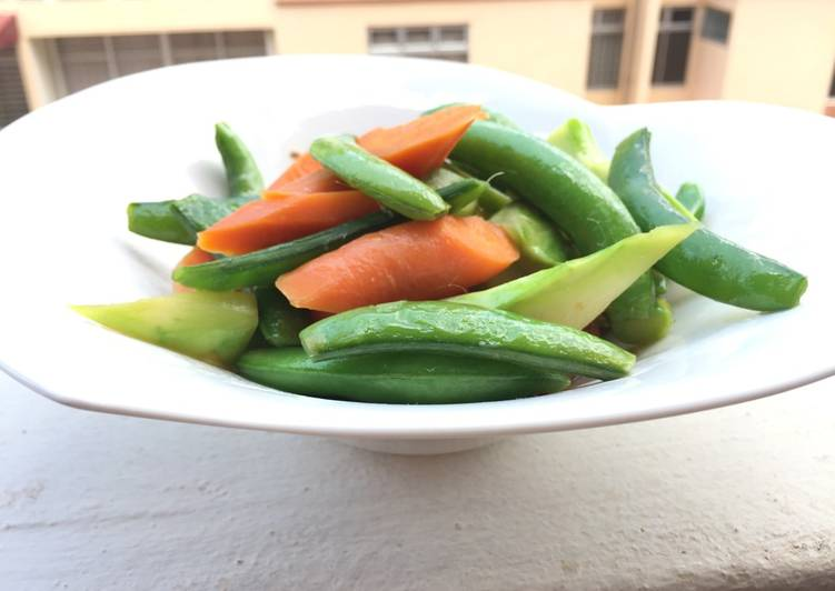 Easiest Way to Prepare Favorite Sugar Snap Pea And Carrot With Anchovies Sauce