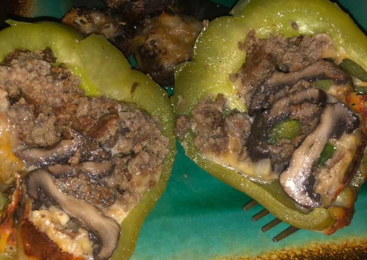 Mushroom Stuffed Bellpepper & Stuffed Mushrooms