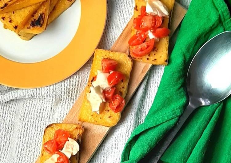 How to Cook Delicious Bruschette di polenta alla caprese