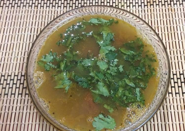 Recipe of Super Quick Homemade Kulthi /kollu/horse gram rasam for weightloss