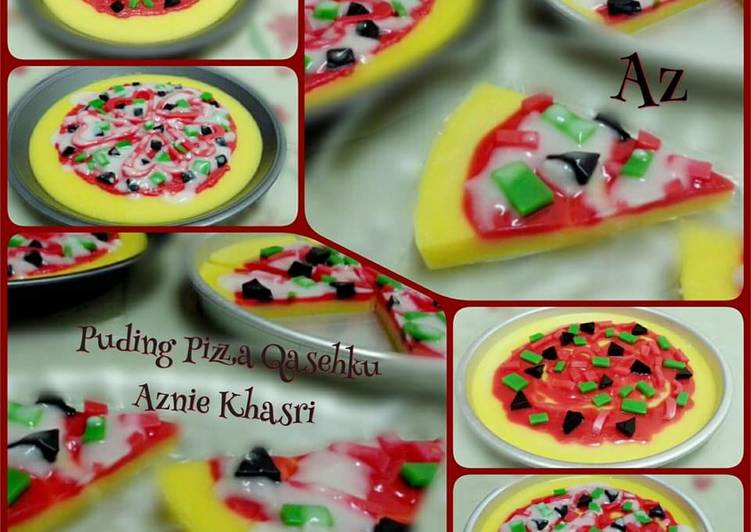 Cara Mudah Masak: Puding Pizza Qasehku  Dirumah