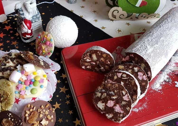 Saucisson de Noël au chocolat