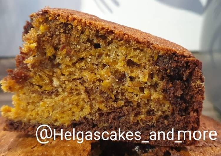 Marmor-Kürbis-Schokoladen-Kuchen