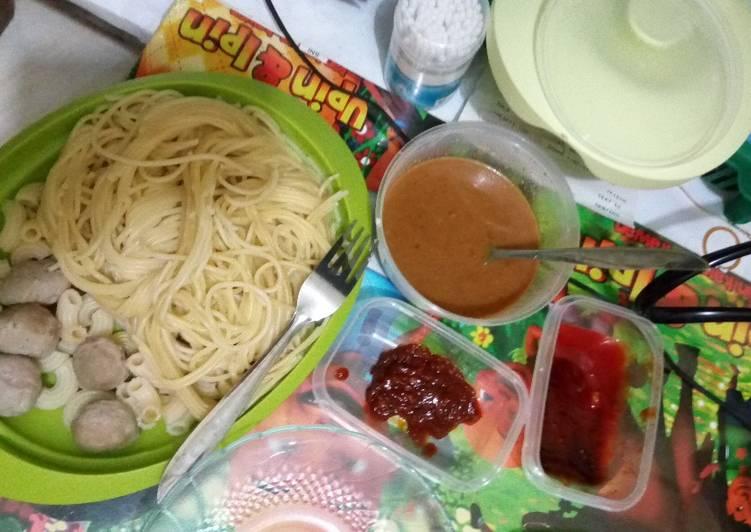 Singkat dan gampang, Spaghetti sambel pecel 🍝