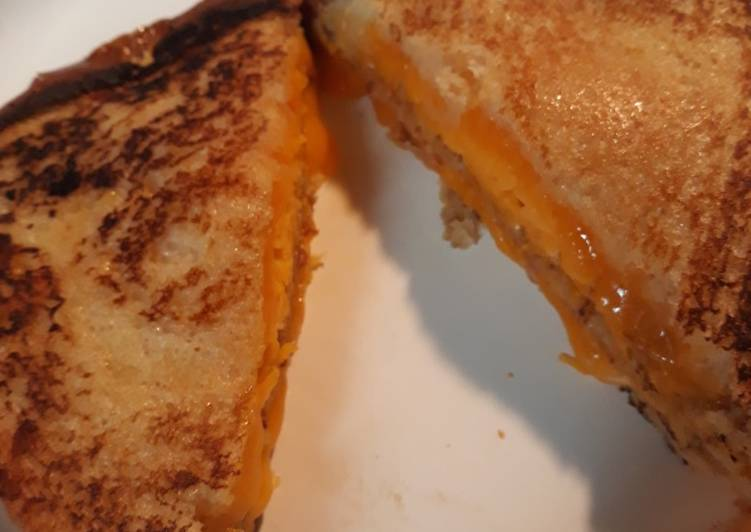 Steps to Prepare Quick My Triple Grilled Cheese Sandwich