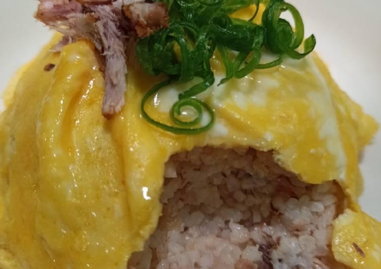 Resep NASI GORENG ALA KOREA 😍 plus scramble egg Bikin Laper
