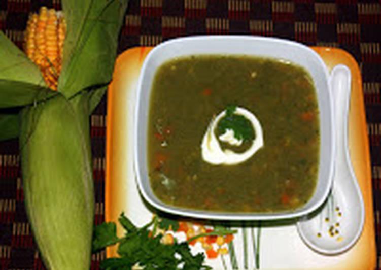 Recipe of Homemade Coriander Corn soup