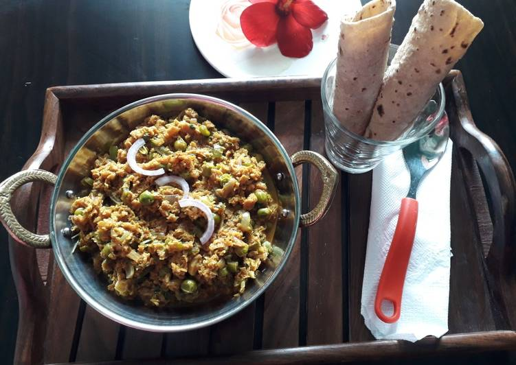 Soya keema and chapati