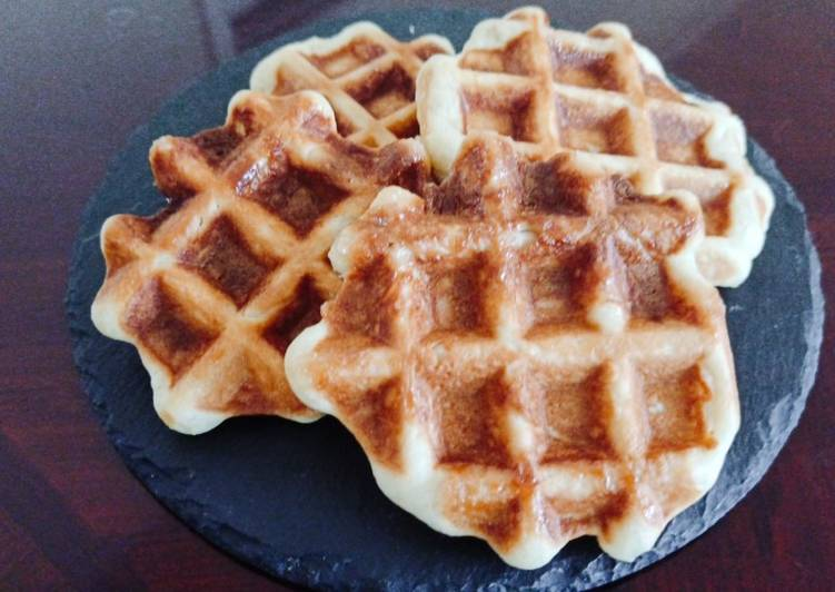 Easy Belgium waffle using a breadmachine