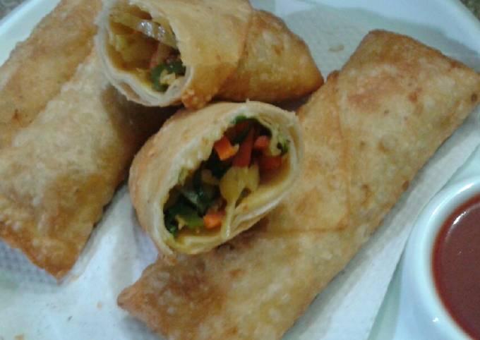 Chicken tikka spring rolls