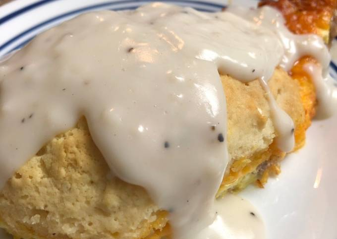 Recipe: Perfect Biscuits and gravy breakfast bake
