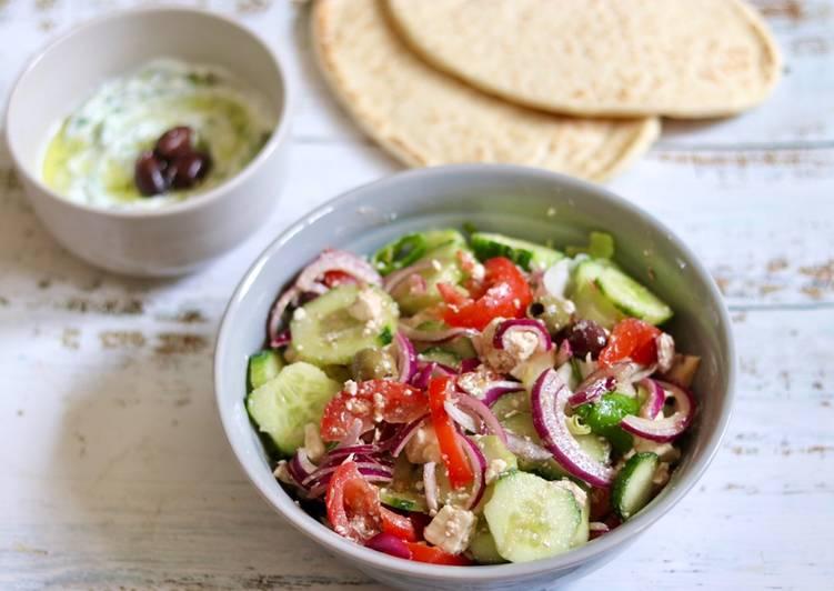 Authentic Greek Salad 🥗 🇬🇷