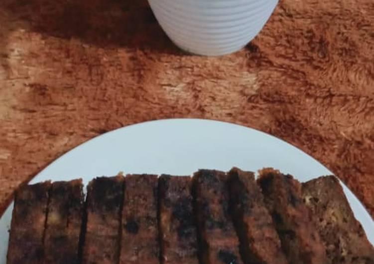 Banana cake Chocolat (Bolu pisang kukus) yummy melted - cookandrecipe.com