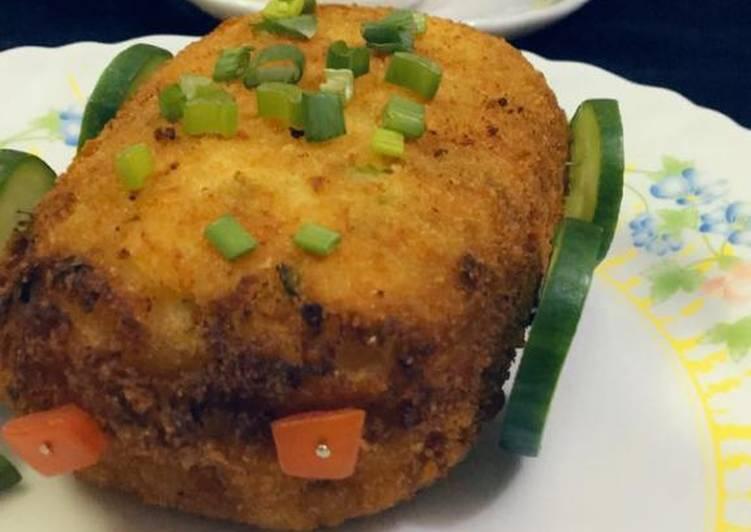 Chicken stuff potato sandwich