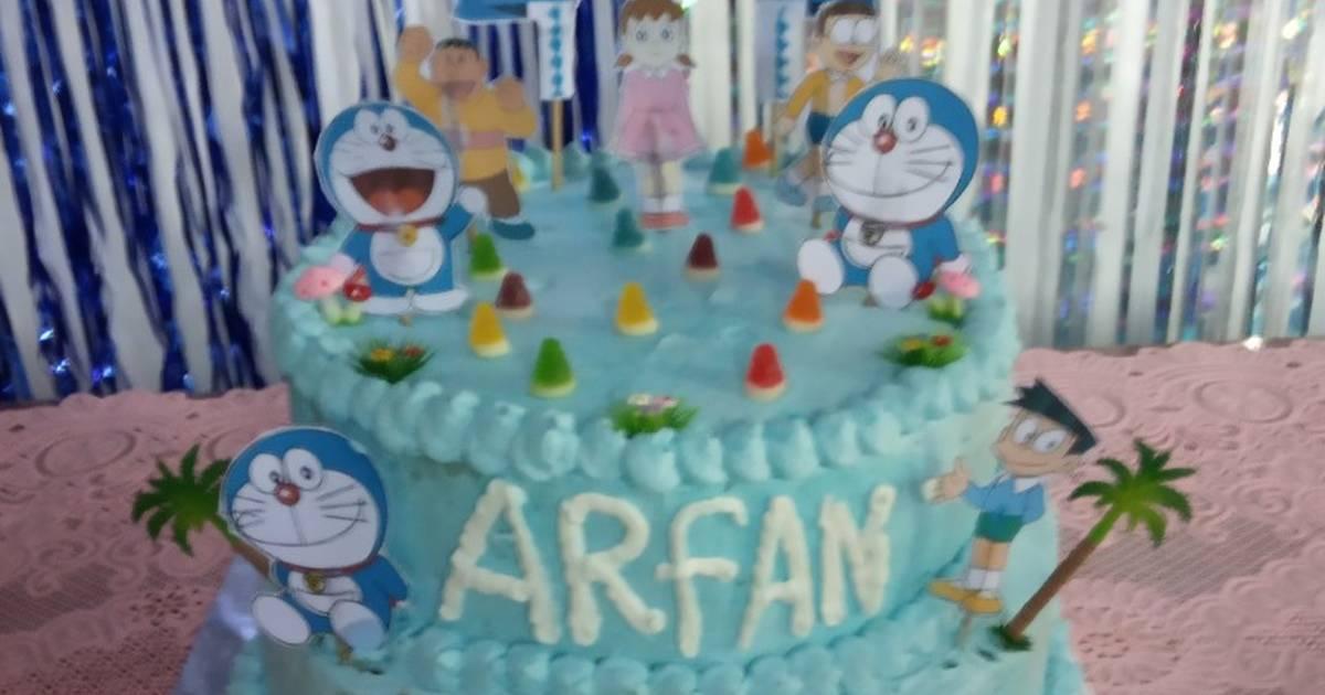 Resep Kue Ulang Tahun Doraemon Oleh Umi Arfan Cookpad