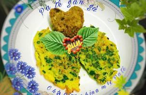 Patê gan gà Chả trứng bina mix pate